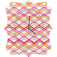 Heather Dutton Intersection Bright Quatrefoil Clock