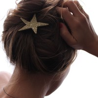 Catbird :: shop by category :: BEAUTY & FRAGRANCE :: Hair :: Gold Sparkler Star Bobby Pin