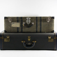 Vintage Suitcase / Vintage Stack of Suitcases / Vintage Luggage