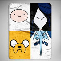 Adventure Time Puzzling Finn Fleece Blanket