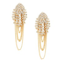 Mood Statement diamante multichain drop earring - Mood from Jon Richard UK