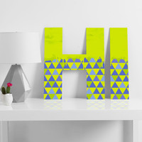 Jacqueline Maldonado Triangle Dip Lime Decorative Letters