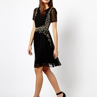A Wear Embellished Front Dress