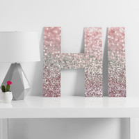 Lisa Argyropoulos Girly Pink Snowfall Decorative Letters - SALE