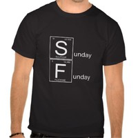 black unisex tee shirt sunday funday