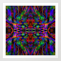 Rainbow Abstract Fractal Art Art Print by Hippy Gift Shop