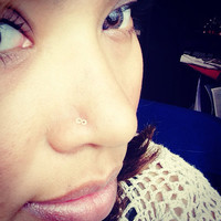 Infinity 14k gold filled nose ring