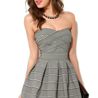 Gracia Banded Strapless Dress