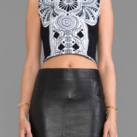 FAIRGROUND Astra Crop Top in Dali Lama Print