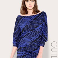 French Connection Levine Batwing Jersey Dress