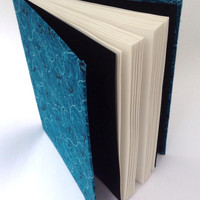 Teal Journal, Hand-Bound Hard-Back Journal