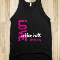 Skreened Love Volleyball Street Style Tank Top