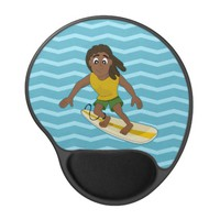 Surfing guy cartoon mousepad gel mouse mat