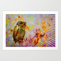 Owl Art Print by LoRo  Art & Pictures