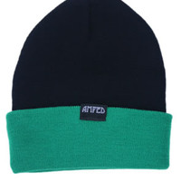 Tandem Beanie in Black/Green