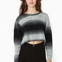 Nasty Gal Dark Horizon Crop Knit