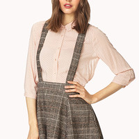 Crisp Plaid Overall Skirt