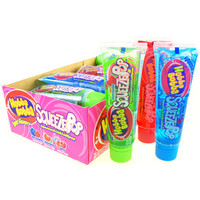 Hubba Bubba Squeeze Pop Liquid Candy Tubes - Sweet Flavors: 18-Piece Box