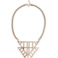 Double Fence Arrow Necklace