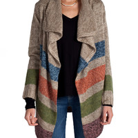 Colored Stripes Cardigan
