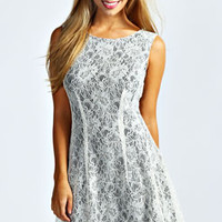 Linda Lace Fit and Flare Dress