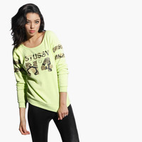 Women's Snake No. 4 Sloppy Crew Sweater (Lemon)