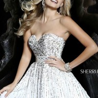Sequined Short Dress by Sherri Hill