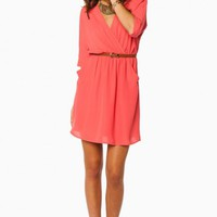 RHIMES DRESS IN CORAL