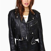 Ready To Rumble Leather Crop Jacket