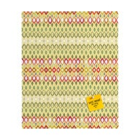 Sharon Turner Beach House Ikat Pattern Rectangular Magnet Board