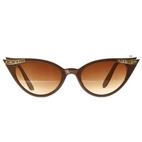 Luella Sunglasses in Coffee - PLASTICLAND
