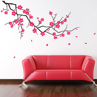 Branch With Blossom Wall Stickers