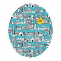 Sharon Turner Los Angeles Blue Oval Magnet Board
