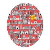 Sharon Turner Los Angeles Coral Oval Magnet Board