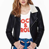 Nasty Gal Never Rest Faux Leather Moto Jacket