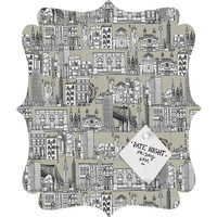 Sharon Turner New York Linen Quatrefoil Magnet Board