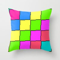 Pixel Throw Pillow by Georgiana Paraschiv