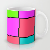 Pixel Mug by Georgiana Paraschiv