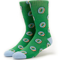 Odd Future Donut Allover Green Crew Socks