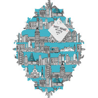 Sharon Turner San Francisco Blue Baroque Magnet Board