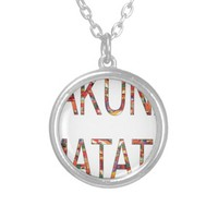 Vintage Colors Hakuna Matata African Necklaces