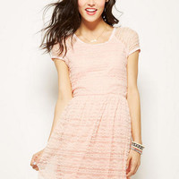 Raglan-Sleeve Lace Dress