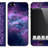 Lavender Nebula iPhone Skin