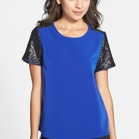 C. Luce Sequin Sleeve Top (Juniors) | Nordstrom