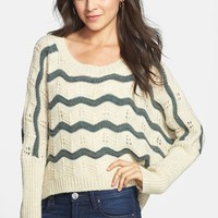 Cotton Emporium Stripe Dolman Sleeve Sweater (Juniors) | Nordstrom
