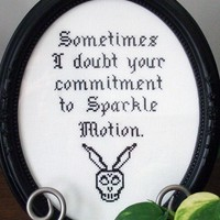 DIY Sparkle Motion - Donnie Darko - .pdf Original Cross Stitch Pattern - Instant Download