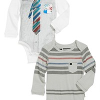 Quiksilver 'Shallow End' Long Sleeve Bodysuit (2-Pack) (Baby Boys) | Nordstrom