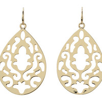 Juicy Couture Bevery Hills Gold Openwork Teardrops Earrings