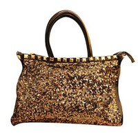 Stylish European Style Bling Sequin Rivet Handbag