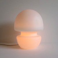 White Murano Glass Table Lamp
